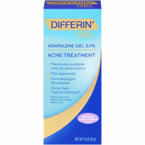 Differin Gel Acne Treatment Perspective: front