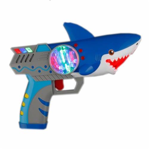 Blinkee LUSSSPGNS Light Up Spinning Shark Prism Gun No Sound Perspective: front