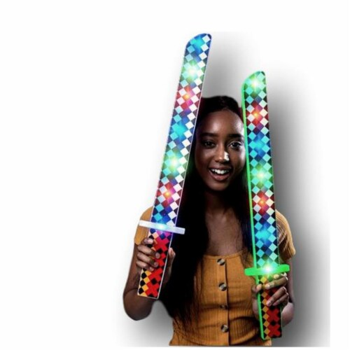 Blinkee FPMDMS Flashing Pixel Diamond Musical Sword, Multi Color Perspective: front