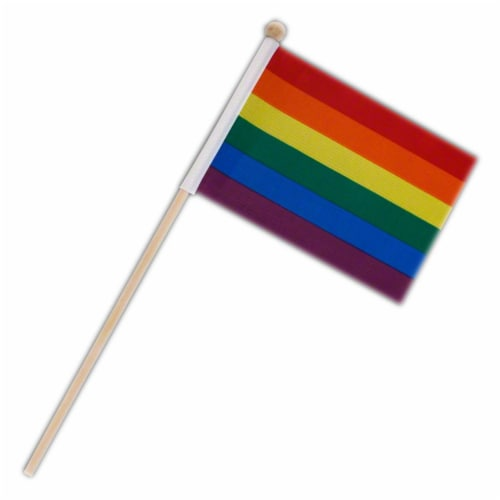 Blinkee NLUFOS-RNBW Non Light Up Flag on Stick Pride Rainbow Perspective: front