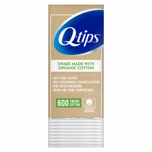 Q-tips Organic Cotton Swabs Perspective: front