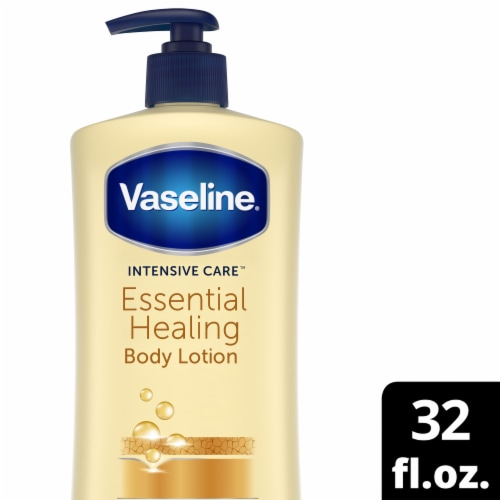 Vaseline Intensive Care Essential Healing Body Lotion Perspective: front