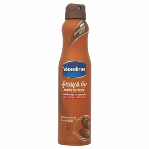 Vaseline Intensive Care Fast Absorbing Cocoa Radiant Spray Lotion Perspective: front