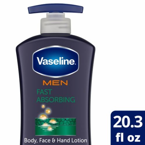 Vaseline Men Fast Absorbing Body & Face Lotion Perspective: front