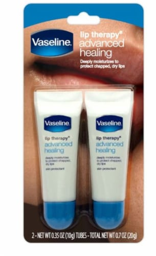 Vaseline Advanced Healing Lip Therapy Tubes 2 Count Perspective: front