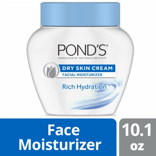 Pond's Rich Hydration Dry Skin Cream Facial Moisturizer Perspective: front