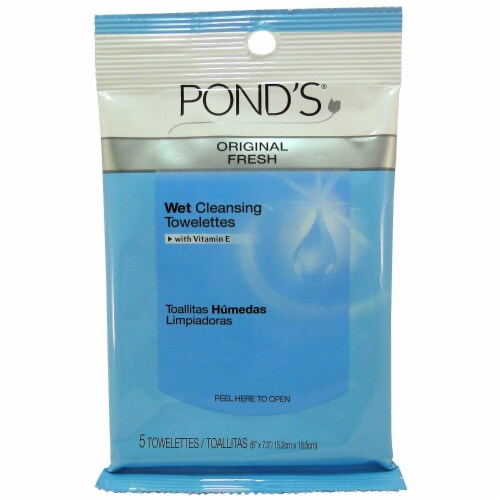 Pond's Wet Cleansing Towelettes Perspective: front