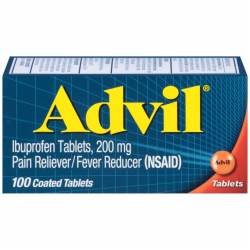 Advil Pain Reliever/Fever Reducer Coated Tablets 200mg Perspective: front