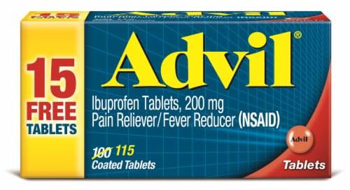 Advil Ibuprofen Tablets 200 mg Perspective: front