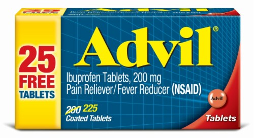 Advil 200mg Tablets Perspective: front