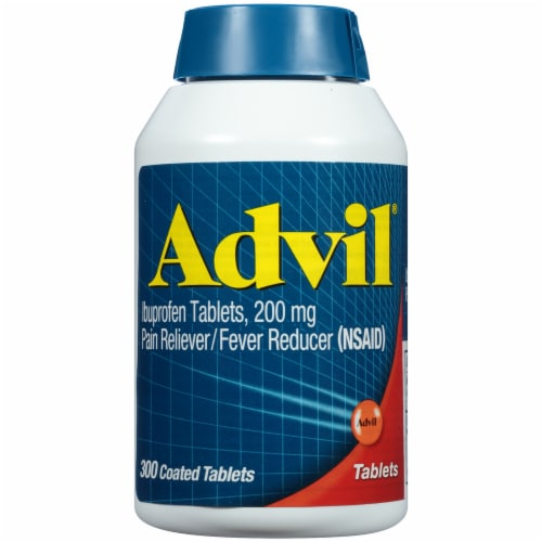 Advil® Pain Reliever/Fever Reducer Coated Tablets 200mg Perspective: front
