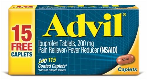 Advil Ibuprofen Caplets 200mg Perspective: front