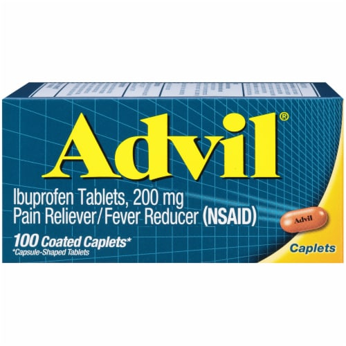 Advil Ibuprofen Coated Tablets 200mg Perspective: front