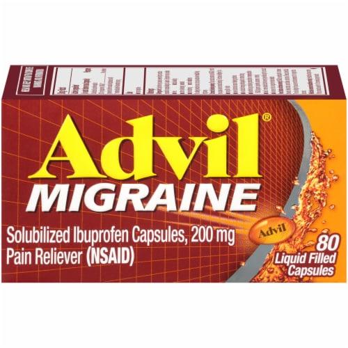 Advil Migraine Liquid Filled Capsules 200mg Perspective: front