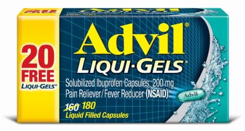 Advil Liqui-Gels Ibuprofen Capsules 200 mg Perspective: front