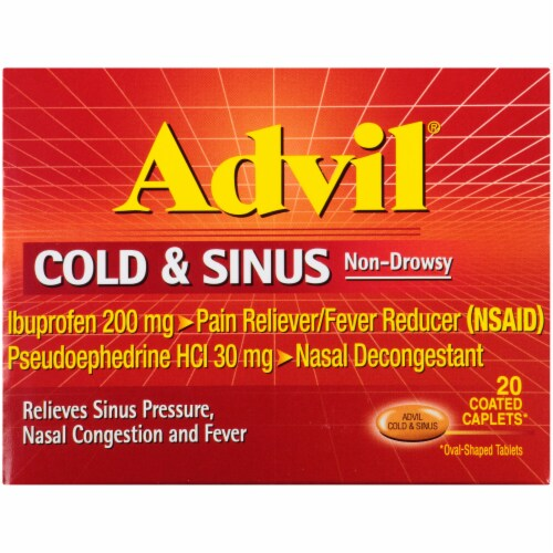 Advil Cold & Sinus Relief Perspective: front
