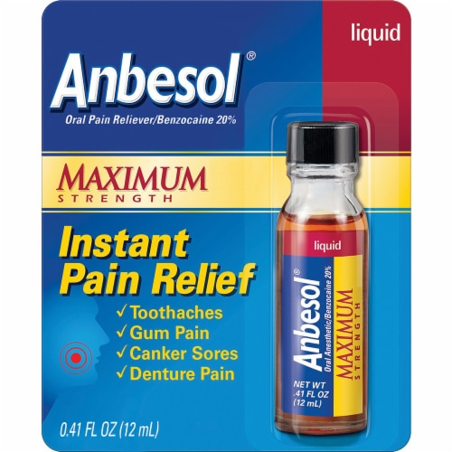 Anbesol Maximum Strength Instant Pain Relief Liquid Perspective: front