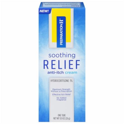 Preparation H Hydrocortisone 1% Anti-Itch Cream Perspective: front