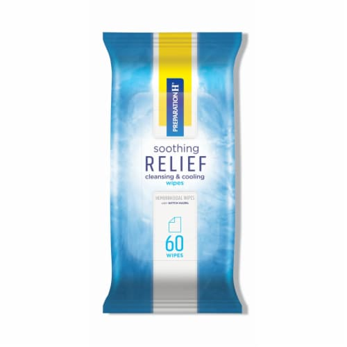 Preparation H Soothing Relief Cleansing & Cooling Wipes Perspective: front