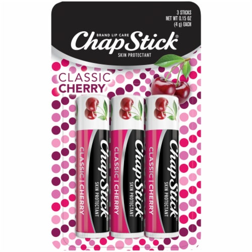ChapStick Classic Cherry Lip Balm Perspective: front