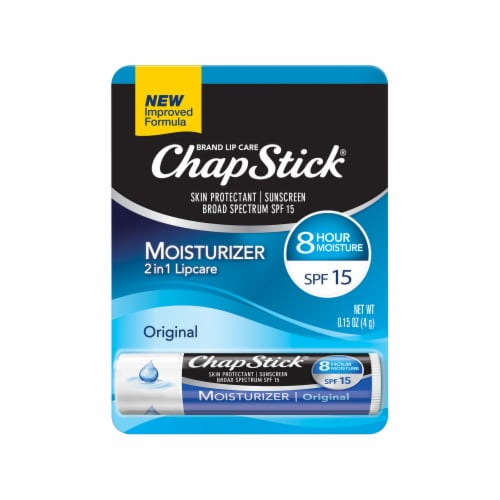 ChapStick Original Moisturizer 2 in 1 Lipcare Lip Balm Perspective: front