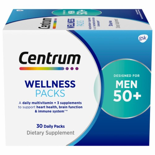 Centrum Mens 50+ Daily Wellness Packs Perspective: front