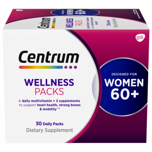 Centrum Womens 60+ Daily Wellness Packs Perspective: front