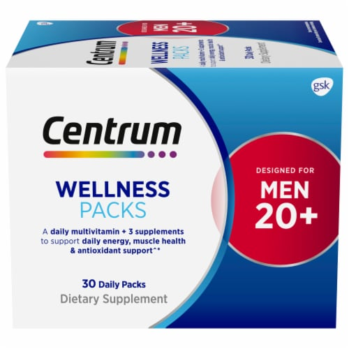 Centrum Mens 20+ Daily Wellness Packs Perspective: front