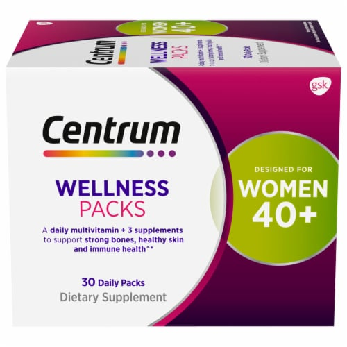 Centrum Women's 40+ Daily Wellness Packs Perspective: front