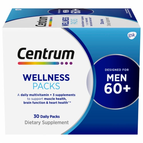 Centrum Mens 60+ Daily Wellness Packs Perspective: front