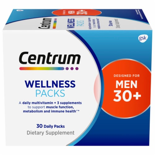 Centrum Mens 30+ Daily Wellness Packs Perspective: front