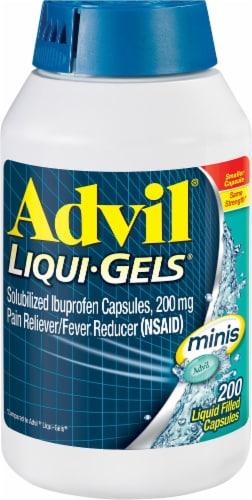 Advil Liqui-Gels Minis Ibuprofen Liquid Capsules 200mg Perspective: front