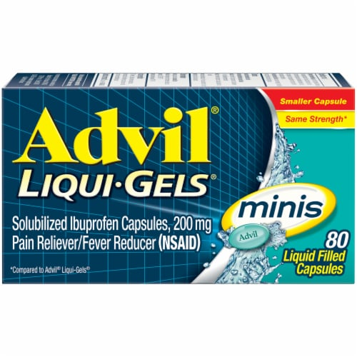 Advil Liqui-Gels Minis Liquid Filled Capsules 200mg Perspective: front