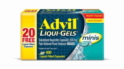 Advil® Minis Solubilized Ibuprofen Pain & Fever Reducer Liqui-Gels® Perspective: front