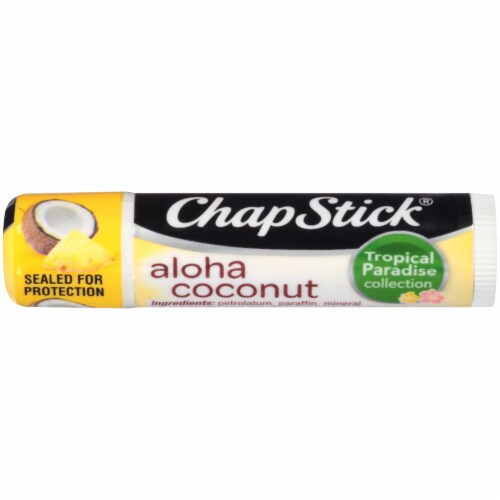 ChapStick Tropical Paradise Collection Aloha Coconut Lip Balm Perspective: front
