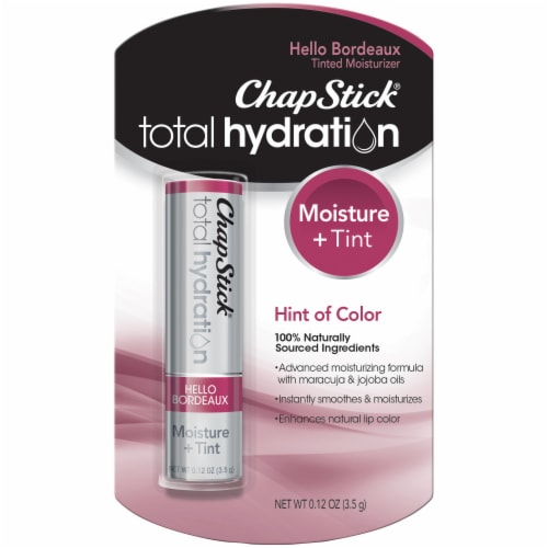 ChapStick Total Hydration Moisture & Tint Hello Bordeaux Tinted Moisturizer Perspective: front