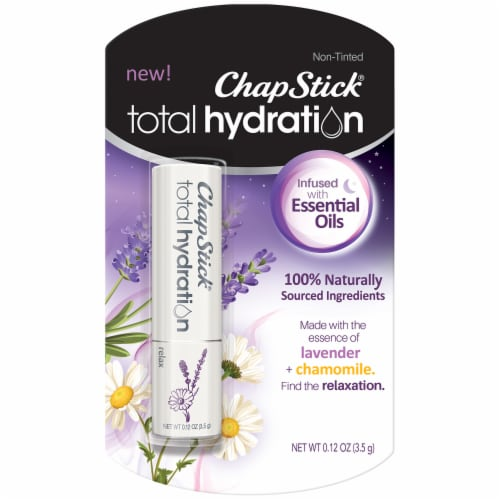 ChapStick Total Hydration Infused with Lavender and Chamomile Essential Oils Lip Balm Perspective: front