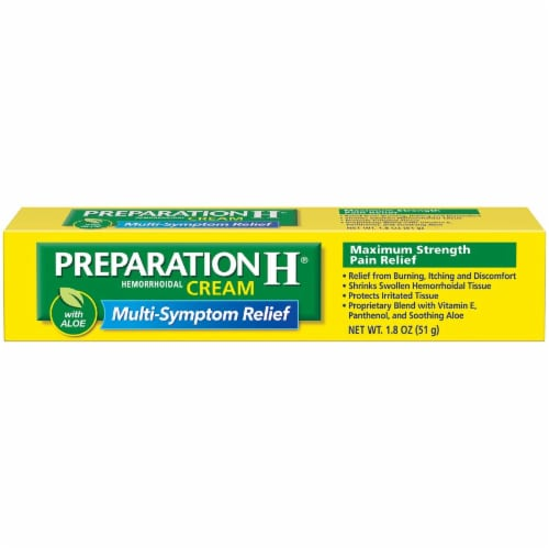 Preparation H Hemorrhoidal Cream with Aloe Perspective: front