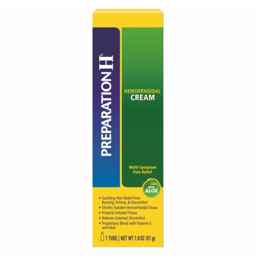 Preparation H Multi-Symptom Pain Relief Hemorrhoidal Cream Perspective: front