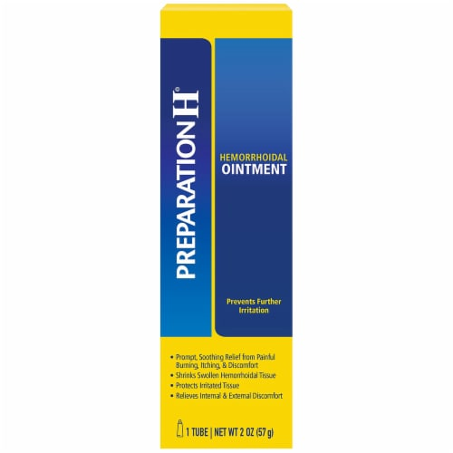 Preparation H Hemorrhoidal Ointment Perspective: front