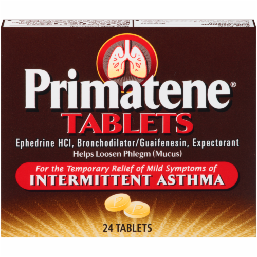 Primatene Bronchial Asthma Tablets Perspective: front