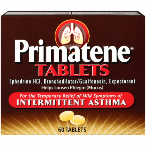 Primatene Bronchial Asthma Relief Tablets Perspective: front