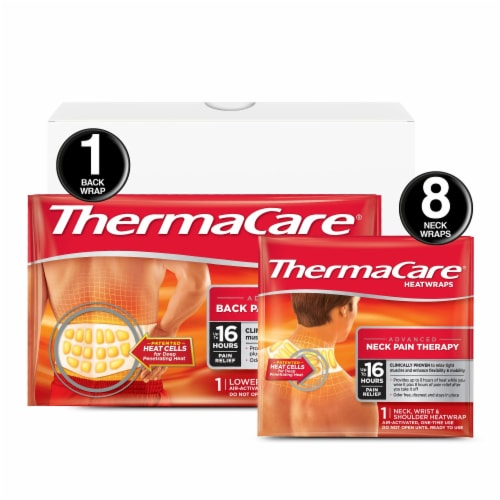 ThermaCare Lower Back and Neck Pain Relief HeatWraps Perspective: front