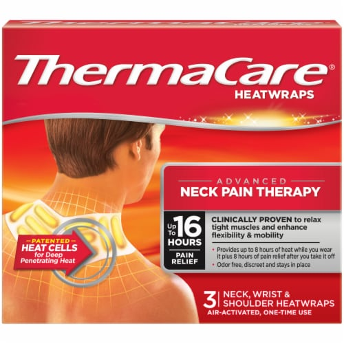 ThermaCare Advanced Neck Wrist & Shoulder Pain Therapy HeatWraps Perspective: front