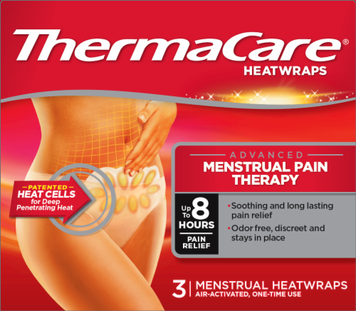 ThermaCare Advanced Menstrual Pain Therapy HeatWraps Perspective: front