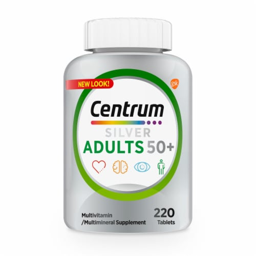 Centrum® Silver® Adults 50+ Multivitamin Perspective: front