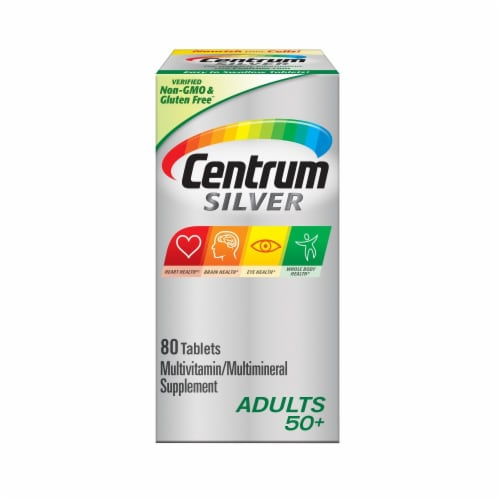 Centrum Silver Adults 50+ Multivitamin Supplement Tablets Perspective: front