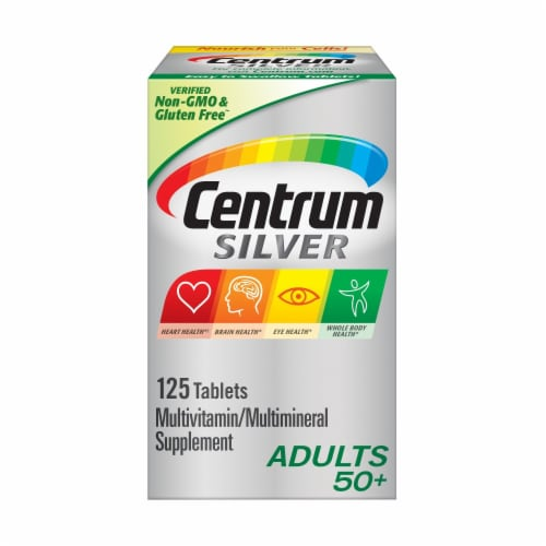 Centrum® Silver Adults 50+ Multivitamin Supplement Tablets Perspective: front