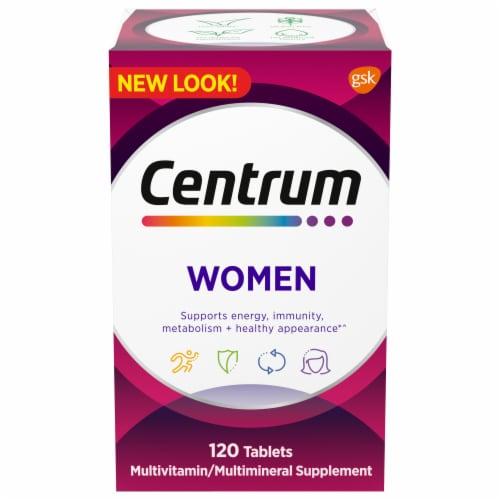Centrum® Women Multivitamin/Multimineral Supplement Tablets Perspective: front