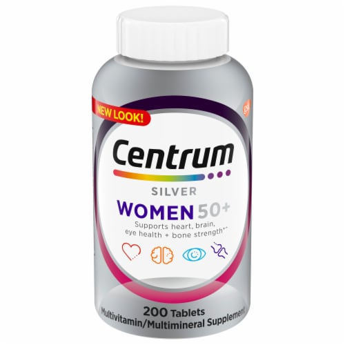 Centrum Silver Women 50+ Multivitamin Tablets Perspective: front